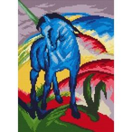 Online pattern - Blue horse - F. Marc