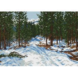 Online pattern - Winter wood