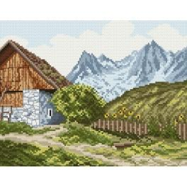 Online pattern - At the foot of the mountains