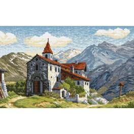 Online pattern - Castle on a mountain track