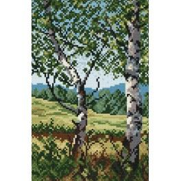 Online pattern - The glade with birches