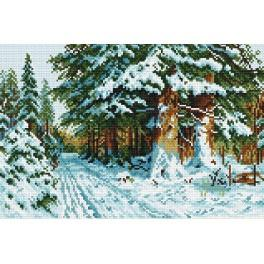 Online pattern - In the winter forest