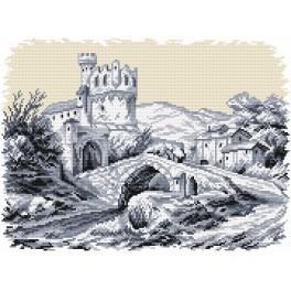 Online pattern - Landscape with the castle