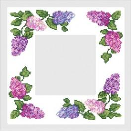 Online pattern - Napkin with colourful lilac - B. Sikora