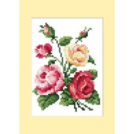 W 4460-02 Online pattern - Birthday card - Colourful roses - B. Sikora