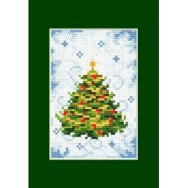 Online pattern - Christmas card- Pine - B. Sikora-Malyjurek