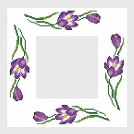 Online pattern - Napkin with crocuses