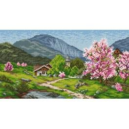 Online pattern - Spring in the mountains