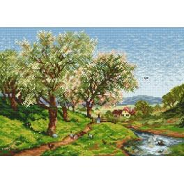 Online pattern - Blooming orchard