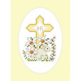 Pattern online - Easter postcard - Lamb