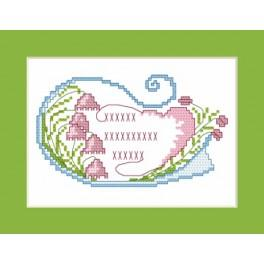 W 4349 Online pattern - Greeting card - My dearest mother