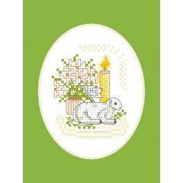 Pattern online - Easter postcard