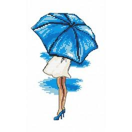 Online pattern - Blue umbrella