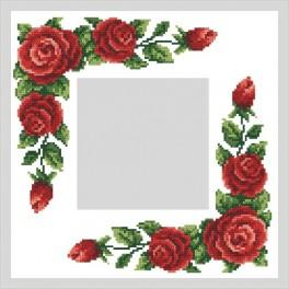 Online pattern - Napkin with red roses - B. Sikora