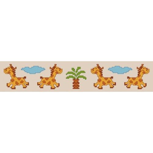 Online pattern - Bib with wild animals