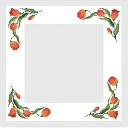 Online pattern - Table-cloth with tulips - B. Sikora-Malyjurek