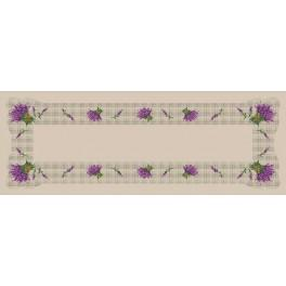 Online pattern - Runner with the lavender - B. Sikora-Malyjurek