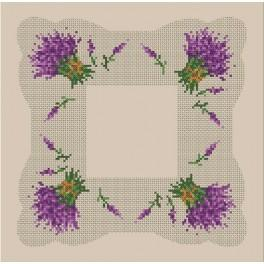 Online pattern - Napkin with the lavender - B. Sikora-Malyjurek