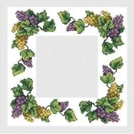 Online pattern - Napkin with grapes - B. Sikora-Malyjurek