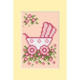 Online pattern - Birth day - pink pram