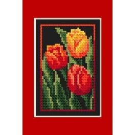W 4460-04 Online pattern - Birthday card - Tulips - B. Sikora