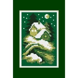 Online pattern - Christmas card- Silent night - B. Sikora