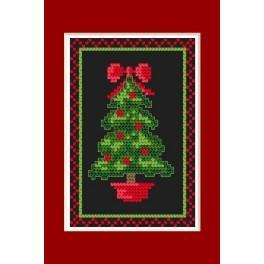 Online pattern - Christmas card- Glowing christmas tree - B. Sikora