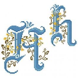 Online pattern - Monogram H - B. Sikora-Malyjurek