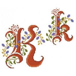 W 4477-11 Online pattern - Monogram K - B. Sikora-Malyjurek