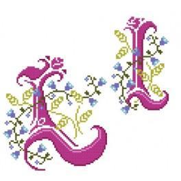 W 4477-12 Online pattern - Monogram L - B. Sikora-Malyjurek