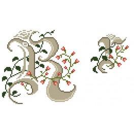 W 4477-18 Online pattern - Monogram R - B. Sikora-Malyjurek