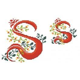 W 4477-19 Online pattern - Monogram S - B. Sikora-Malyjurek