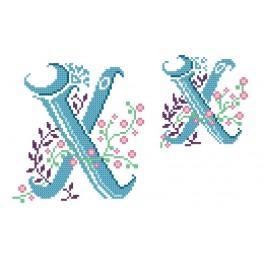 W 4477-24 Online pattern - Monogram X - B. Sikora-Malyjurek