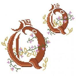 W 4477-27 Online pattern - Monogram Q