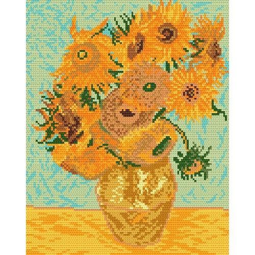 PDF Download Van Gogh Cross Stitch Pattern Van Gogh Roses Counted Cross Stitch Pattern Rose Cross Stitch Impressionist Cross Stitch