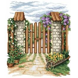 Online pattern - Flowers gate - B. Sikora