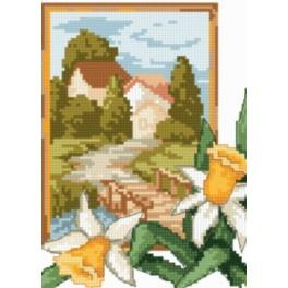 Online pattern - Landscape with jonquil`s - B. Sikora-Malyjurek