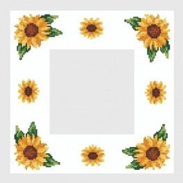 Online pattern - Napkin with sunflowers