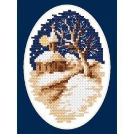 Online pattern - Winter church - B. Sikora