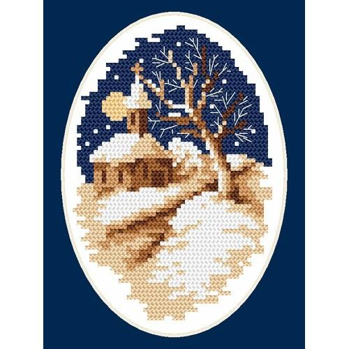 Online pattern - Winter church - B. Sikora