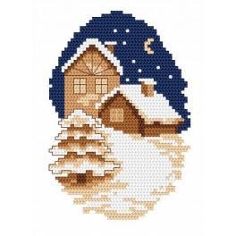 Online pattern - City In Winter - B. Sikora