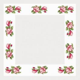 W 4667 Online pattern - Table-cloth with magnolias