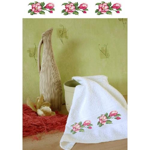 W 4668 Online pattern - Towel with magnolias