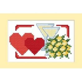W 4670-01 Online pattern - Wedding Card - Two hearts - B. Sikora-Malyjurek