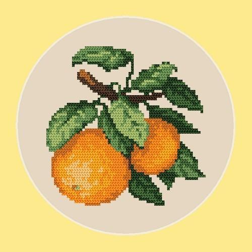 Online pattern - Sweet oranges - B. Sikora-Malyjurek