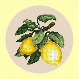 Online pattern - Appetizing lemons - B. Sikora-Malyjurek