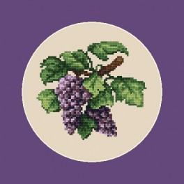 Online pattern - Dark grapes - B. Sikora-Malyjurek