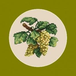 Online pattern - Green grapes - B. Sikora-Malyjurek