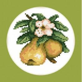 Online pattern - Tasty pears - B. Sikora-Malyjurek
