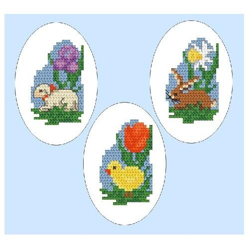 W 4803-01 Online pattern - Embroidered easter eggs